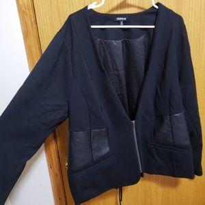 Torrid Black Lace Up Back Corset Style Blazer